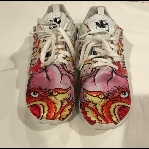 Rare Adidas Dragon print athletic shoes